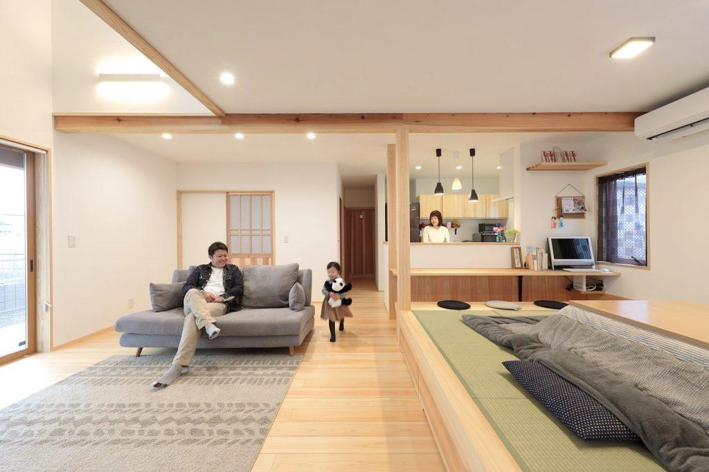 畳ダイニング 無垢の家