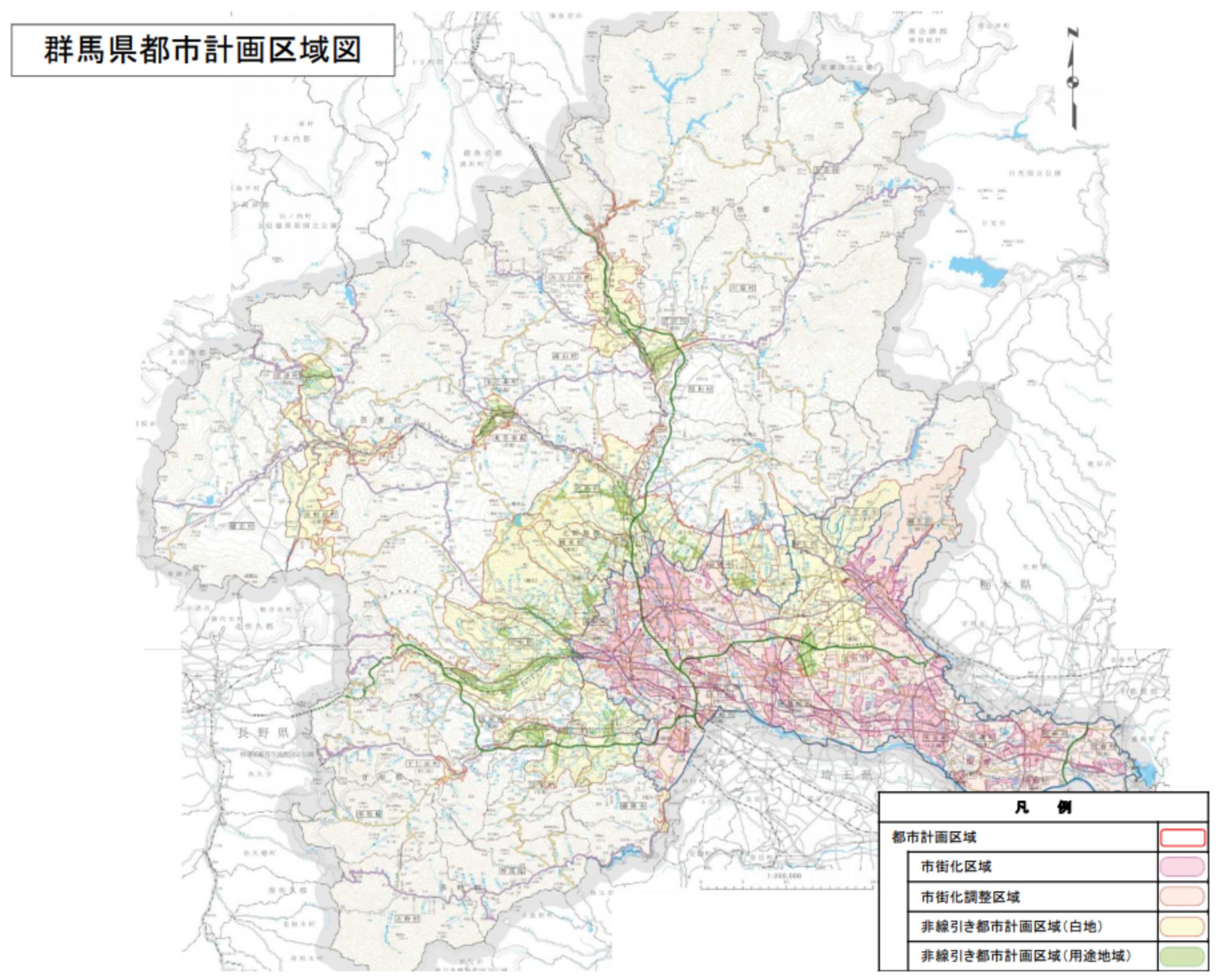 群馬県 都市計画区域